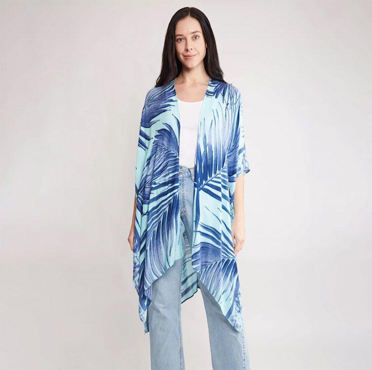 A photo of the Blue Palm Kimono product