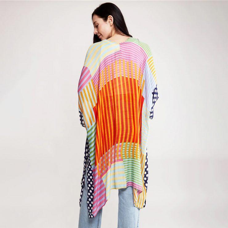 A photo of the Bright & Bubbly Kimono product