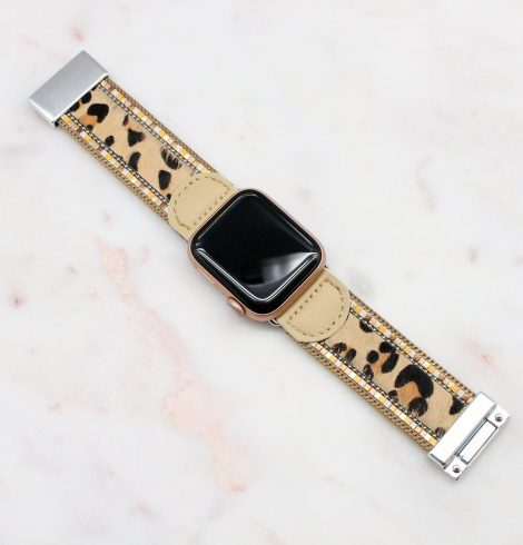 A photo of the Tan Leopard Apple Watch Band product