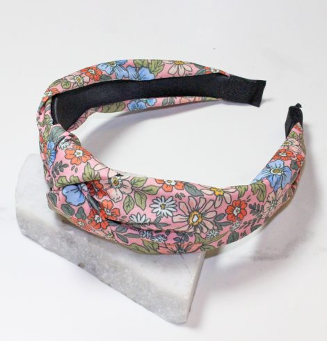 A photo of the Flower Bomb Headband In Pink product