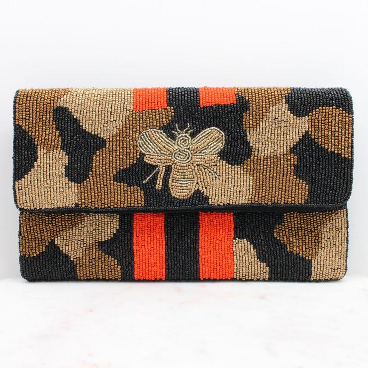 A photo of the Lana Beaded Camo Handbag product