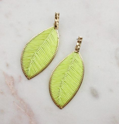 A photo of the Everleigh Earrings In Neon product