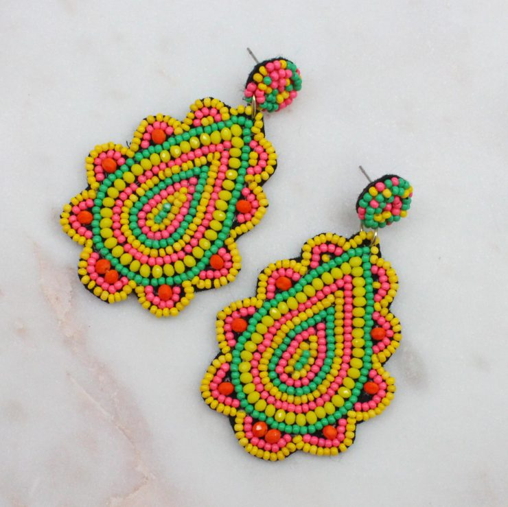 A photo of the Milo Beaded Earrings product