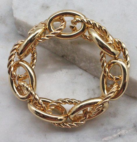 A photo of the Twisted Links Bracelet In Gold product