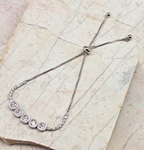 A photo of the Beautiful Treasures Adjustable Bracelet In Silver product