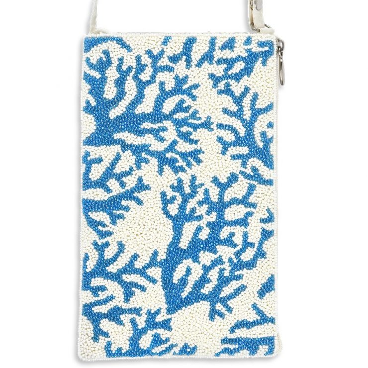 A photo of the Blue Coral Beaded Handbag product