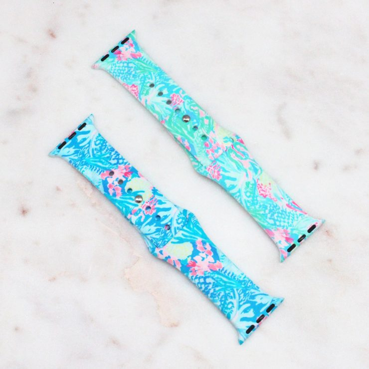 A photo of the Coral Reef Apple Watch Band product