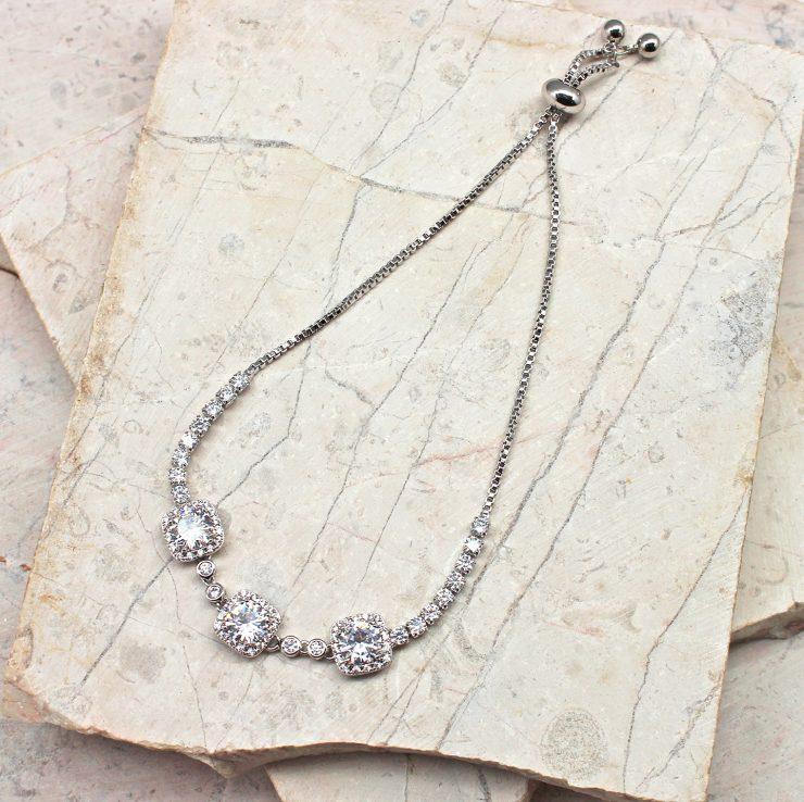 A photo of the Darcy Adjustable Rhinestone Bracelet product