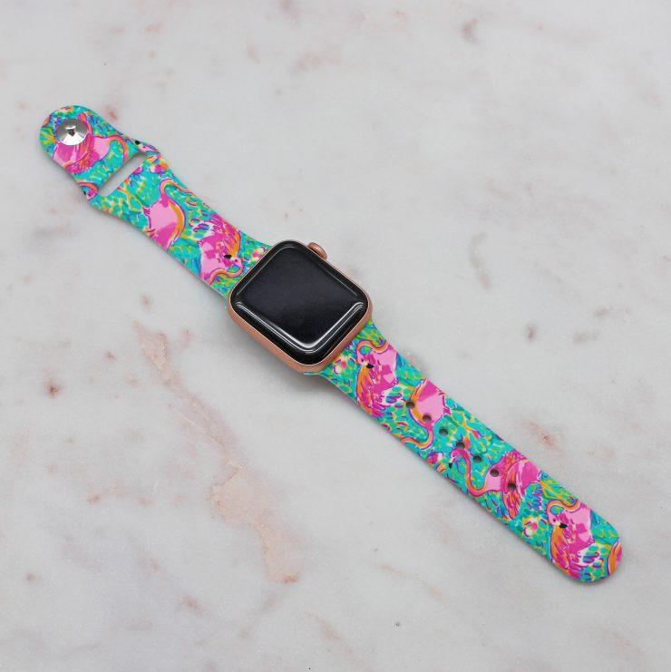 A photo of the Flamingo Apple Watch Band product