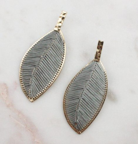 A photo of the Everleigh Earrings In Grey product