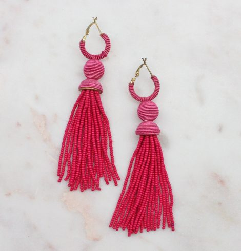 A photo of the Tinsley Earrings In Pink product