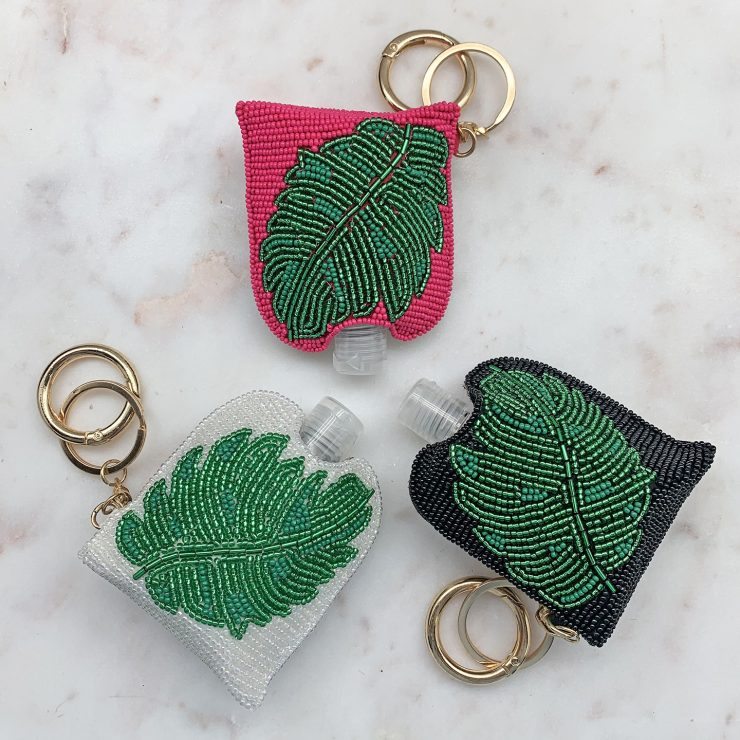 A photo of the Beaded Sanitizer Keychain product