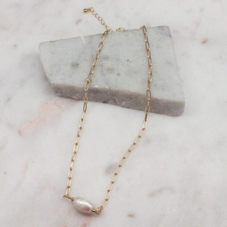 A photo of the Chole Necklace In Gold product