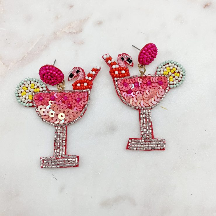 A photo of the Margarita Beaded Earrings product