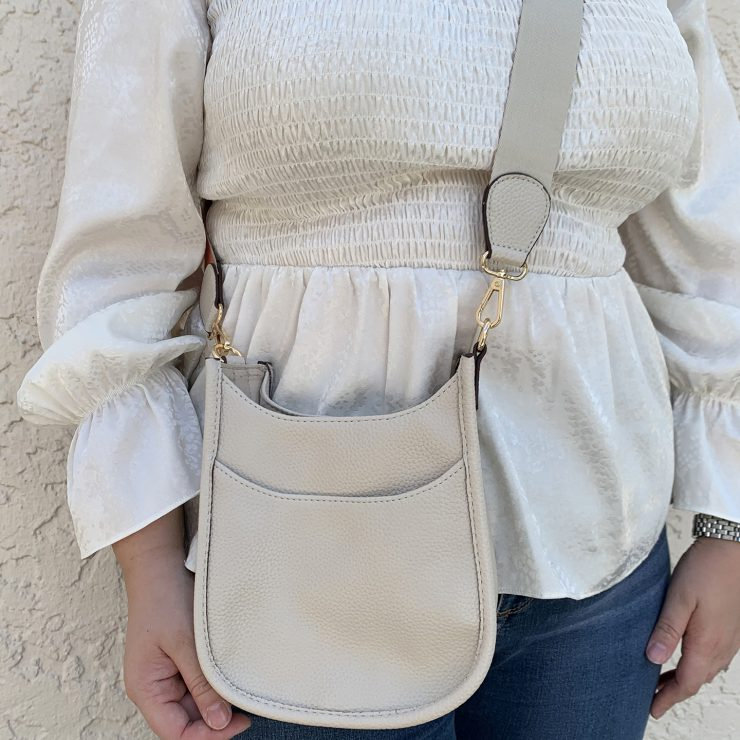 A photo of the Mini Messenger Bag In Ivory product