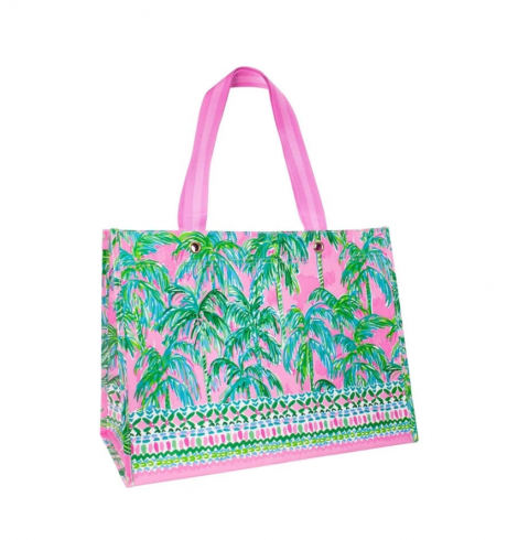 A photo of the Lilly Pulitzer Market Carryall Tote In Suite Views product