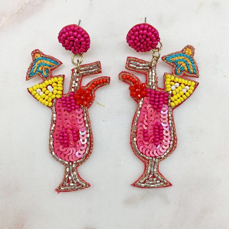 A photo of the Cocktail Beaded Earrings product