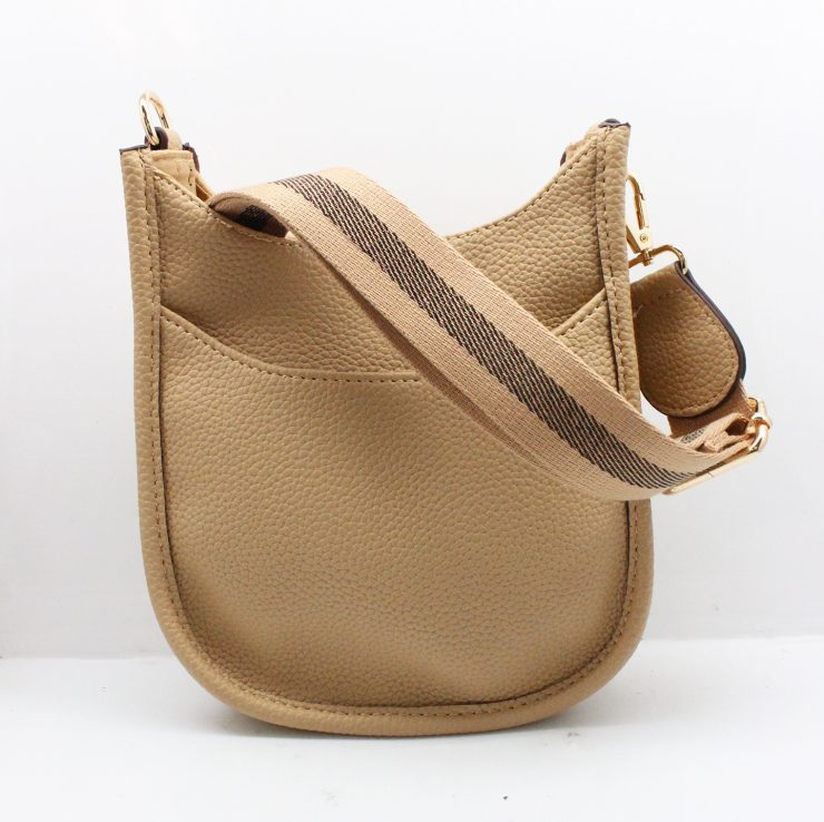A photo of the Mini Messenger Bag In Light Beige product