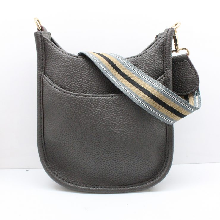 A photo of the Mini Messenger Bag In Dark Grey product