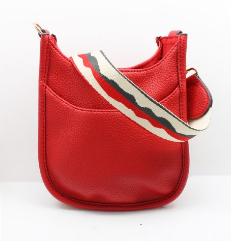 A photo of the Mini Messenger Bag In Red product