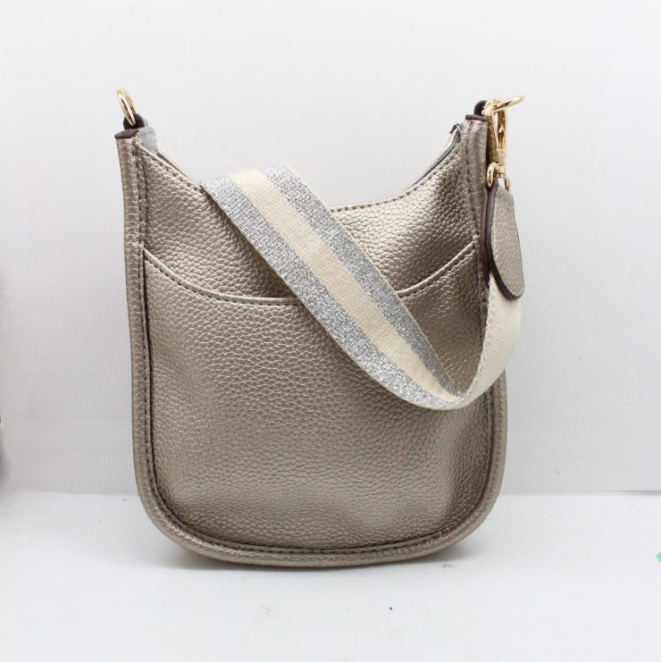 A photo of the Mini Messenger Bag In Silver product