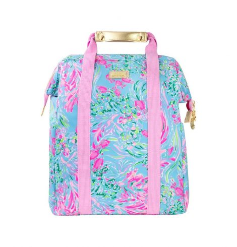 A photo of the Lilly Pulitzer Backpack Cooler In Best Fishes product