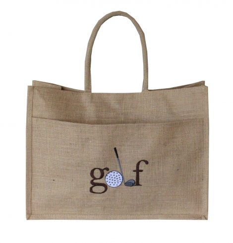 A photo of the Jute Golf Tote In Natural product