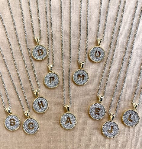 A photo of the Initial Necklace product