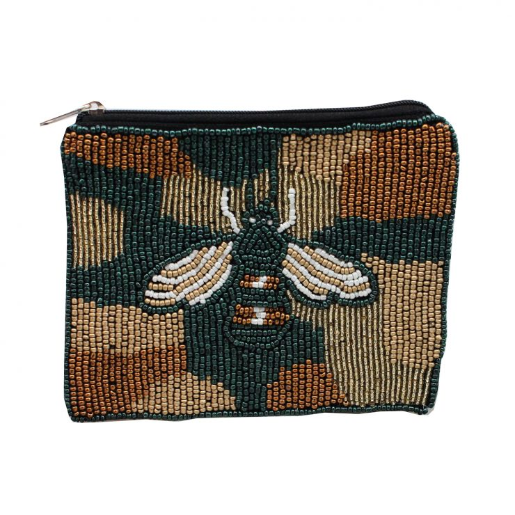 A photo of the Kaia Beaded Coin Purse product