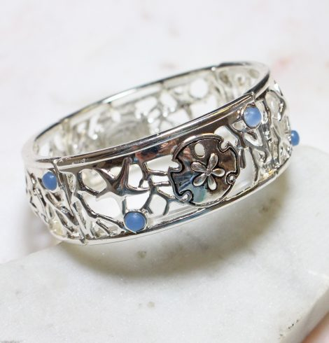 A photo of the Sea Life Stretch Bracelet In Silver product