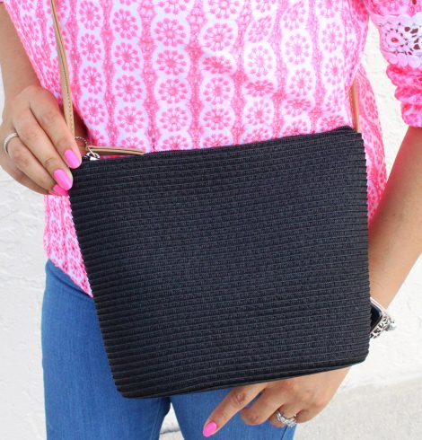 A photo of the Straw Handbag In Black product