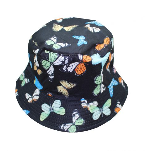A photo of the Butterfly Bucket Hat In Black product