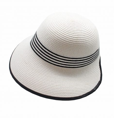 A photo of the Black & White Straw Hat product