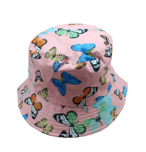 A photo of the Butterfly Bucket Hat In Pink product