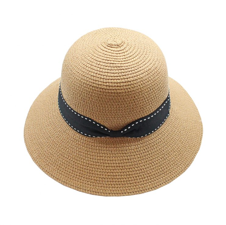 A photo of the Straw Bucket Hat In Toast product