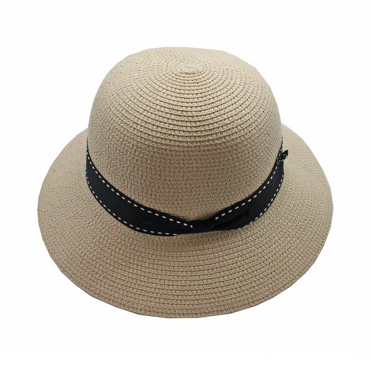 A photo of the Straw Bucket Hat In Natural product