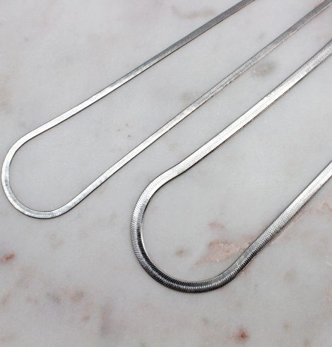 A photo of the Herringbone Chain In Silver product