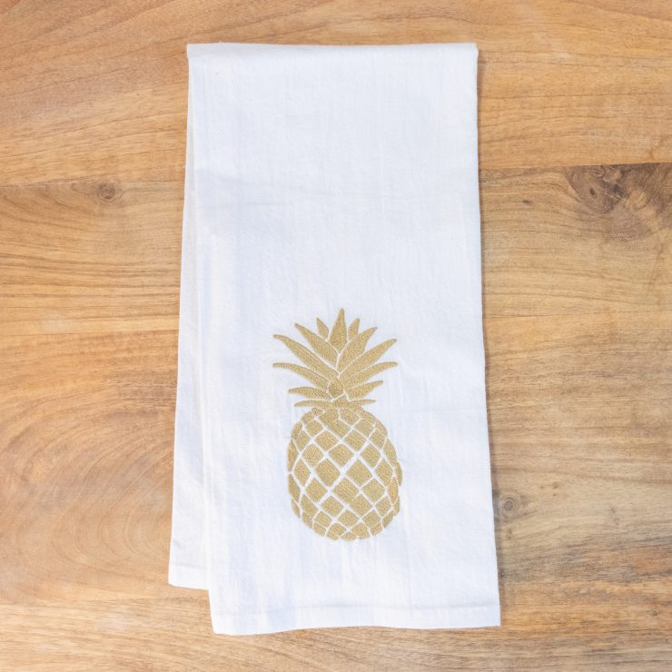 A photo of the Small Pineapple Hand Towel product