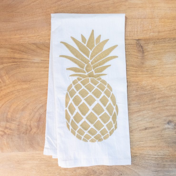 A photo of the Large Pineapple Hand Towel product