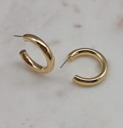A photo of the Classic Gold Hoops product