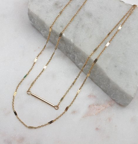 A photo of the Delicate Layers Necklace In Gold product