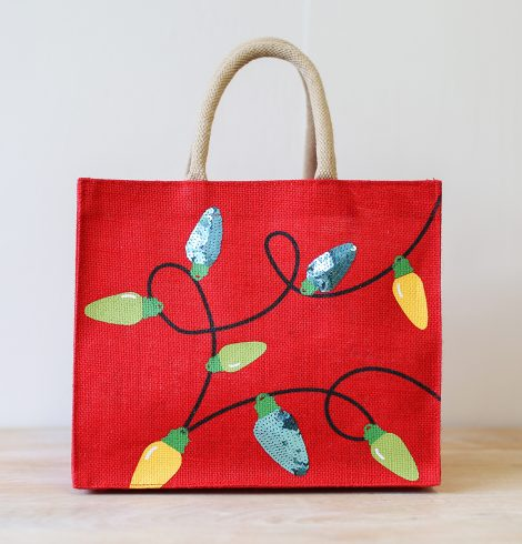 A photo of the Holiday Lights Gift Tote product