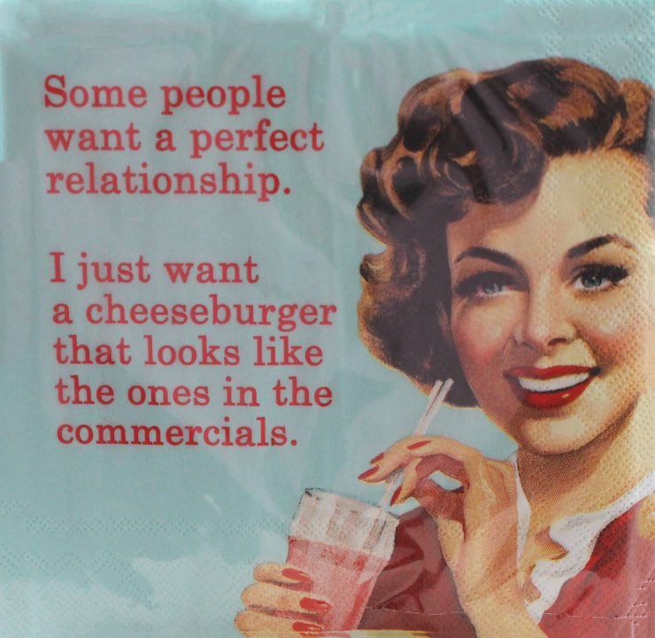 A photo of the Just Want A Cheeseburger Napkins product