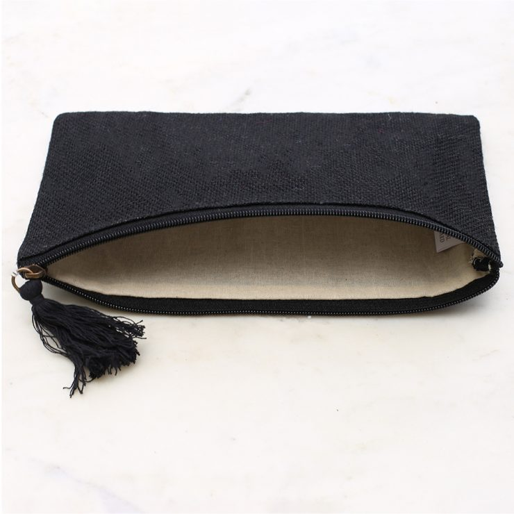 A photo of the Jute Cosmetic Bag In Black product