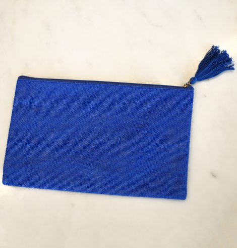 A photo of the Jute Cosmetic Bag In Lapis product