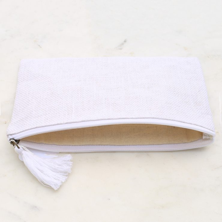 A photo of the Jute Cosmetic Bag In White product