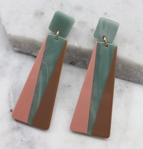 A photo of the Kamilah Earrings In Jade product