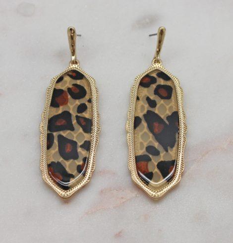 A photo of the Lyla Earrings In Leopard product