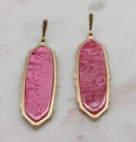 A photo of the Lyla Earrings In Pink product