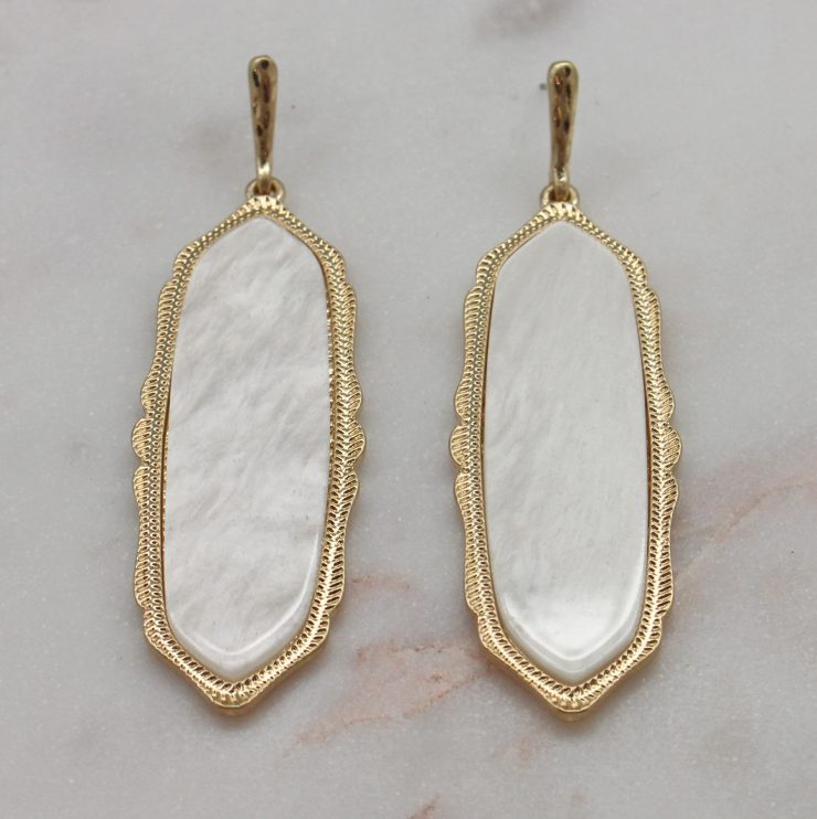 A photo of the Lyla Earrings In White product